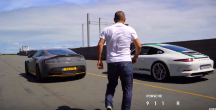 Top Gear - Chris Harris Tests Aston V12 Vantage S vs Porsche 911 R (1)