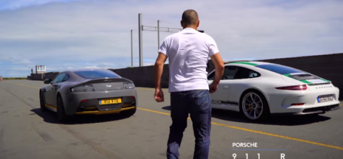 Top Gear – Chris Harris Tests Aston V12 Vantage S vs Porsche 911 R – Video