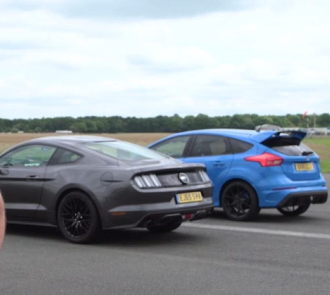 Top gear drag race ford mustang vs ford focus rs video dpccars top gear drag race ford mustang vs ford focus rs 1 publicscrutiny Gallery