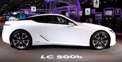 White 2018 Lexus LC 500h With Red Interior (1)