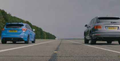 Drag Race - Ford Focus RS vs Bentley Bentayga (1)