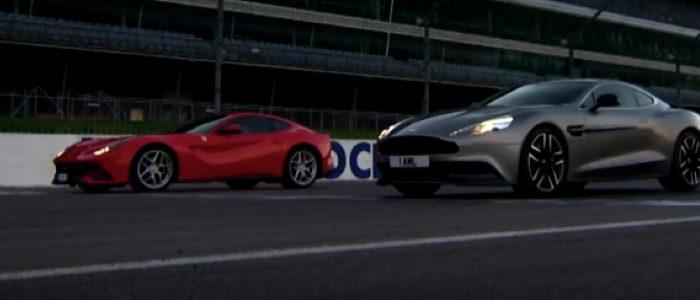 Fifth Gear – Ferrari F12 vs Aston Martin Vanquish – Video