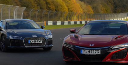 2017 Honda NSX vs Audi R8 V10 Plus (1)