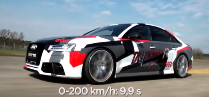 802HP Audi S8 Talladega R By MTM Launch Control – Video