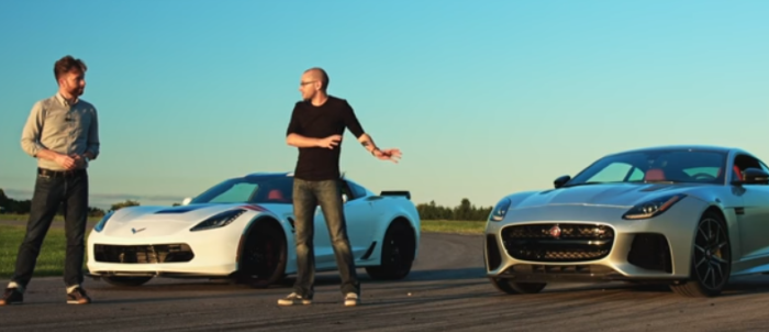 Chevrolet Corvette Grand Sport takes on the Jaguar F-Type SVR – Video
