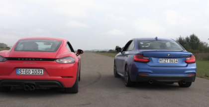 Drag Race - BMW M240i vs Porsche 718 Cayman (1)