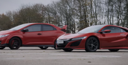 Drag Race - Honda NSX vs Civic Type R (1)