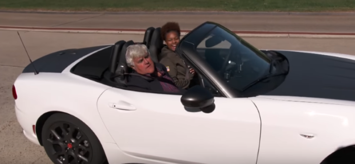 Jay Leno gives a war veteran a Fiat 124 Abarth Spider – Video