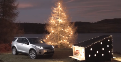 Land Rover has created a compact Christmas cabin for Santa