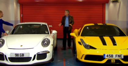 Porsche GT3 vs Ferrari 458 Speciale - Chris Harris vs Tiff (2)