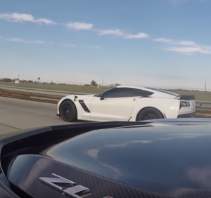 Roll Race - 2017 ZL1 Camaro vs Z06 Corvette (2)