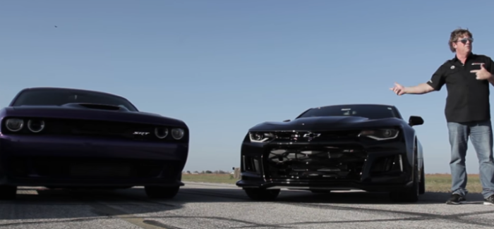 Roll Race – Hellcat Challenger vs ZL1 Camaro – Video