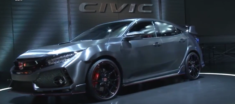 2017 honda civic type r hatchback sedan unveiling at tokyo auto salon 2017 video dpccars. Black Bedroom Furniture Sets. Home Design Ideas