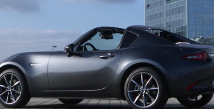 2017 Mazda MX 5 RF in Machine Grey & Soul Red Test Drive, and Interior (1)