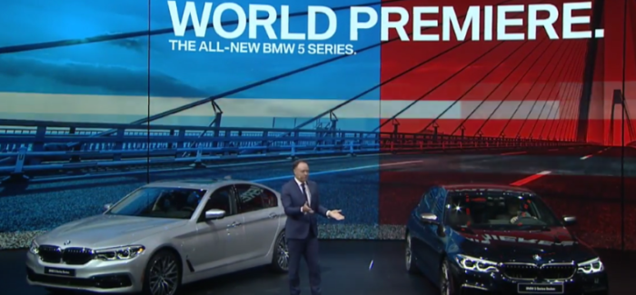 2018 BMW M760 and 5 Series Unveiling At Detroit Auto Show NAIAS 2017 – Video