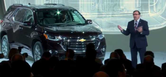 2018 Chevrolet Traverse Unveiling At Detroit Auto Show NAIAS 2017 – Video