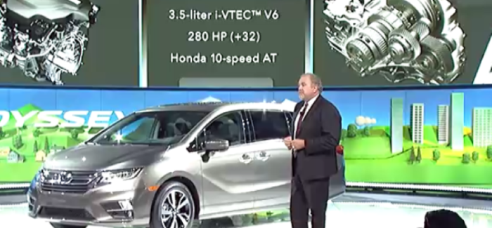 2018 Honda Odyssey Unveiling At Detroit Auto Show NAIAS 2017 – Video