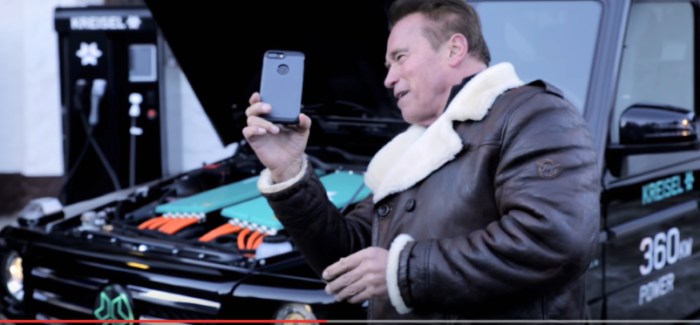 Arnold Schwarzenegger With KREISEL Electric Mercedes G-Wagon – Video