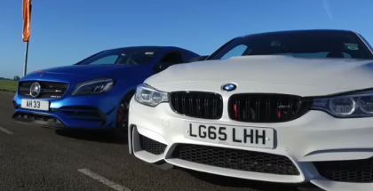 Drag Race - Mercedes A45 AMG VS BMW M4 (1)