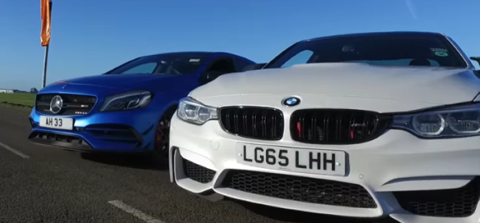 Drag Race – Mercedes A45 AMG VS BMW M4 – Video