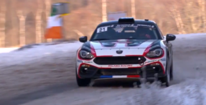 Fiat Abarth 124 Rally at the 85th Rallye Monte Carlo