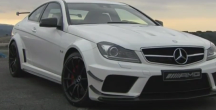 Mercedes C63 AMG Coupe Black Series Race Track Run (1)
