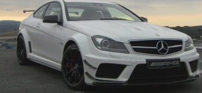 mercedes c63 amg coupe black series race track run video. Black Bedroom Furniture Sets. Home Design Ideas