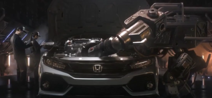 New Turbocharged 2017 Honda Civic Hatchback Commercial Trailer (1)