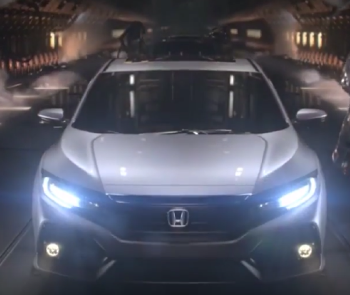 Honda Civic Commercial >> New Turbocharged 2017 Honda Civic Hatchback Commercial Trailer