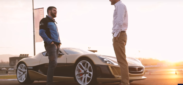 Rimac Concept_One vs Bugatti Veyron on a Racetrack – Video