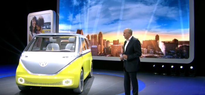 Volkswagen I.D. Buzz Unveiling At Detroit Auto Show NAIAS 2017 – Video