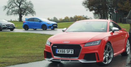 2017 Audi TT RS vs Mercedes-AMG A45 vs Ford Focus RS (1)