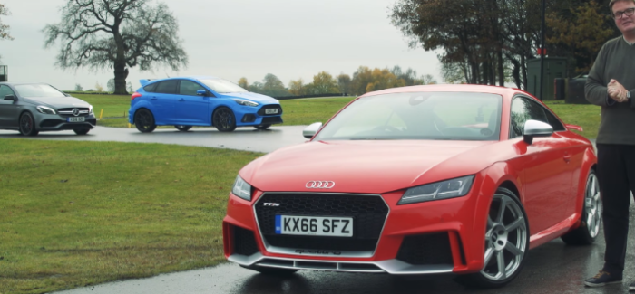 2017 Audi TT RS vs Mercedes-AMG A45 vs Ford Focus RS – Video