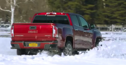 2017 GMC Canyon Denali Winter Test Drive