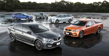 2017 Holden Commodore Lineup Featuring Sedan, Wagon, & Ute