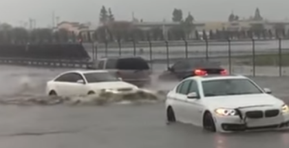 Audi Quattro VS BMW In Flood Water (1)