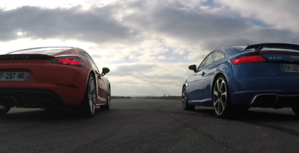 Drag Race - Audi TT RS VS Porsche 718 Cayman S (1)