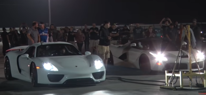 Full Version LaFerrari vs 918 Spyder Drag Race – Video