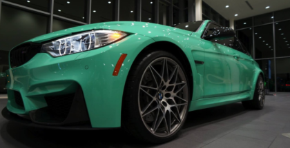 Mint Green 2017 BMW M3 Competition Package (1)