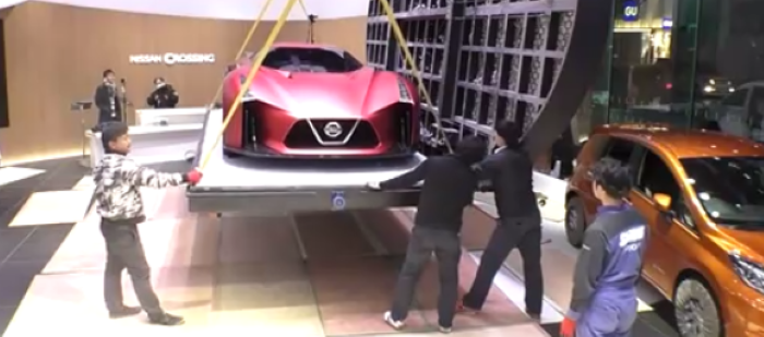 Nissan 2020 Vision Gran Turismo Displayed At Nissan Crossing – Video