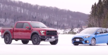 2017 Ford Raptor & Focus RS Winter Driving