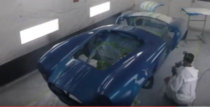 427 Shelby Cobra Roadster In Paint Booth (1)