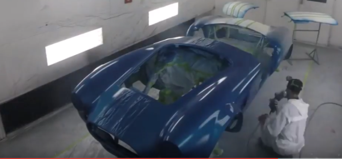 427 Shelby Cobra Roadster In Paint Booth – Video