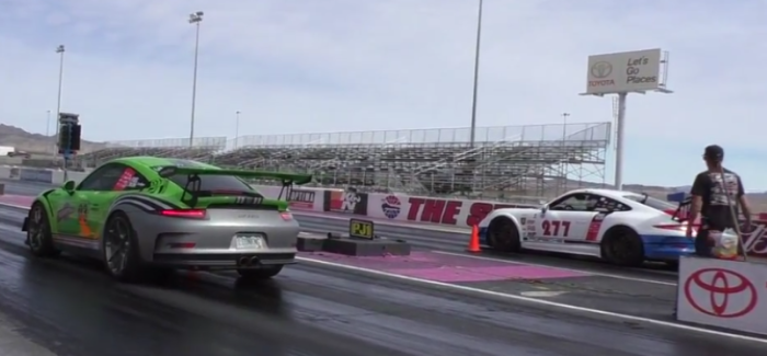 Drag Race – Porsche GT3RS vs Porsche GT3 – Video