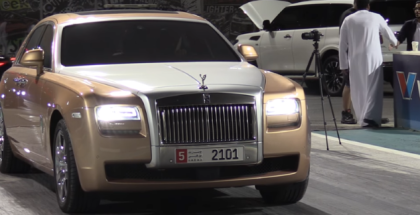 Drag Racing like a Sir with a Rolls Royce Ghost (1)