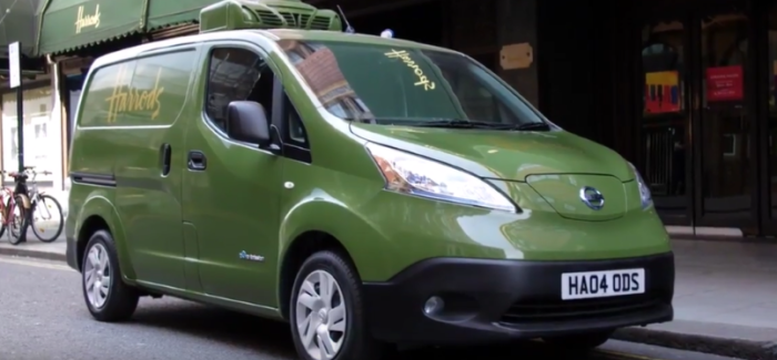 Nissan E Nv200 Electric Van Harrods Delivery Fleet Video