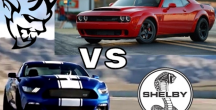 750HP Shelby Super Snake vs 840HP Dodge Demon Exhaust & Engine Sound  (1)