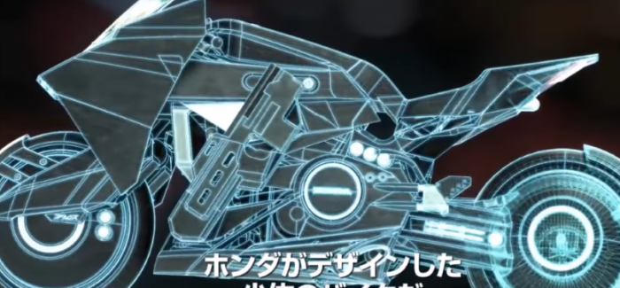 Futuristic Motorcycle In Ghost in the Shell Staring Scarlett Johansson – Video