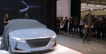 Genesis Hybrid Sports Sedan Concept Unveiling At Canadian International AutoShow