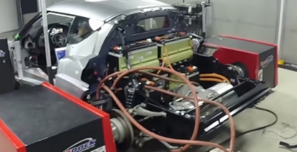 Lotus Evora With Tesla ENgine Makes 440whp on Dyno (1)